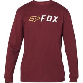 Fox Apex T-Shirt À Manches Longues Homme, cranberry